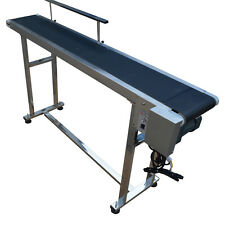 Stainless Steel Single Guardrail Conveyors Transport Machine 110V Brand New Sale