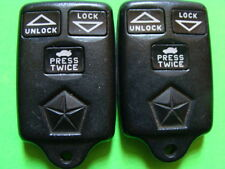 2 OEM DODGE CHRYSLER SECURITY KEYLESS ENTRY REMOTE TRANSMITTER CLICKER CONTROL