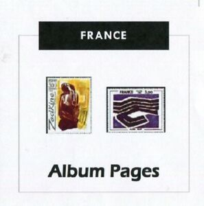 France - CD-Rom Stamp Album -1849-2016 Color Illustrated Album Pages