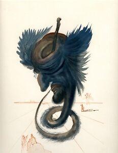 SALVADOR DALI THE DIVINE COMEDY INFERNO 20 WOODBLOCK ART PRINT