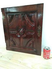 "Vintage from 60´s worked door panel oak wood Original Knob - Use as frame - 21"""