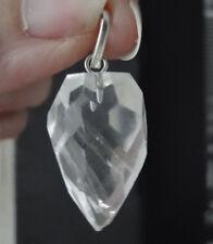Pendentif cristal de roche oeuf facetté 2,5 cm / 9 g