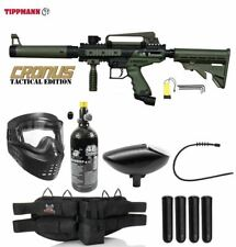 Maddog Tippmann Cronus Tactical Silver Hpa Paintball Gun Starter Package Olive