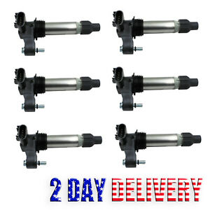 Pack of 6 Ignition Coils UF569 For Buick LaCrosse Cadillac ATS Chevy 3.6L In. V6
