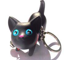 "Meow Doll 2"" Tall Kitty Cat Keyring Bell Key-chain"