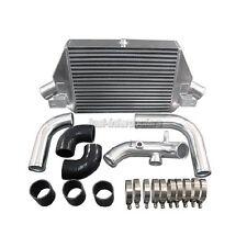CXRacing Bolt-on Aluminum Intercooler + Upgraded Kit For Dodge Neon SRT-4 Black