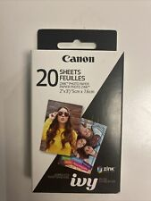 NEW Canon 20 Sheets ZINK Photo Paper IVY 3214C001 2