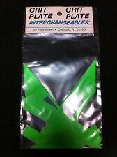 Green CRIT PLATE INTERCHANGEABLES Pro Decal Sticker Set Old School BMX Number