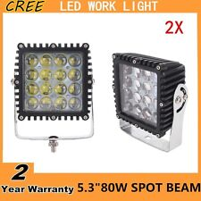 2X80W CREE LED Work Light Spot 4D Square Fog Off-road Jeep Square 4WD 5.3Inch