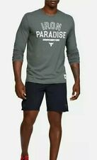 Under Armour Project Rock Iron Paradise Long sleeve Gray Large L Pre-owned Prist