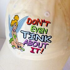 Disney World Kids Tinkerbell Cap Child size Strap Back White w/ Blue Hat