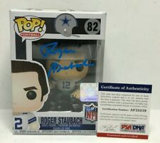 Roger Staubach Signed Dallas Cowboys Funko Pop #82 *HOF *SB MVP PSA AF25519