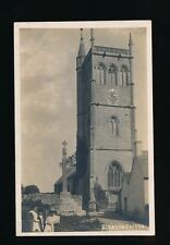 Somerset BLEADON Church  c1910/30s? RP PPC miscut
