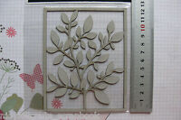 BRANCH of LEAVES 95x120mm - Single DieCut from Chipboard - Frame 128x113mm GH