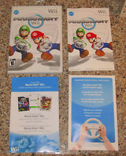 Mario Kart Nintendo Wii Case and Manuals - NO GAME - Wii U