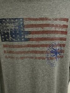 Tommy Bahama Relax Gray Double Graphic SS T-Shirt 3XL Cotton USA Flag Sword Fish