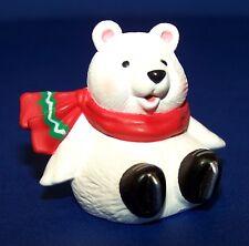 1994 Hallmark NEW Christmas POLAR BEAR ON SKATES Merry Miniature Unused QFM8293