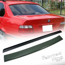 BMW E36 3 Series 4DR A Roof Spoiler Rear Wing &Trunk Lip Spoiler 91-98 Unpainted