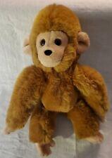 """Vintage 1980 GUND plush Brown Monkey/Chimp 12"""" Excellent"""