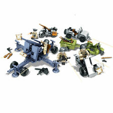 4pcs/set Military Soldiers Heavy Equipment Building Blocks Bricks Figures Toys