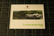 RAR VIP Prospekt/brochure Hardcover Porsche Boxster Spyder 06/09 französisch