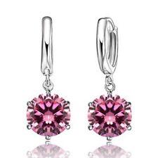 CZ Dangle Earrings 8MM Cubic Zirconia Stones CZ Crystal Gifts for Women Girls