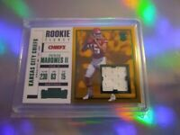 2017 Panini Contenders PATRICK MAHOMES  Rookie Ticket Patch Relic