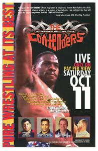 The Contenders Poster (International Wrestling Forum 1997) New/Mint.