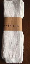 Vintage Ann Taylor Womens White Knee High Hi Socks NOS
