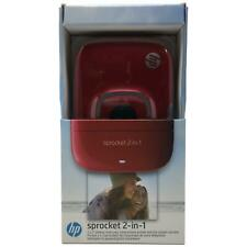 HP - Sprocket 2-in-1 Photo Printer - Red