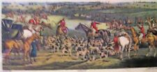 Fox Hunting hounds & horses print H Alken & FC Lewis THE MEET published 1835