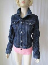 Diesel Denim Patternless Casual Coats & Jackets for Women