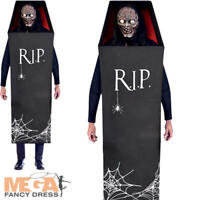 ADULT VAMPIRE IN COFFIN COSTUME Count Dracula Halloween Fancy Dress Outfit 3514