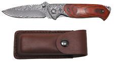 MFH FoX Outdoor Damastmesser klappbar 21,5cm Taschenmesser Messer Klappmesser