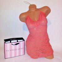 Victoria Secret Lingerie Chemise Slip Babydoll Small Orange Lace