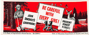 Smokey the Bear, U.S. Department of Agriculture, Early Ink Blotter