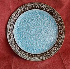 Assiette dessin relief c.1860 ? européenne , hommage chinois dynastie Song 13ème