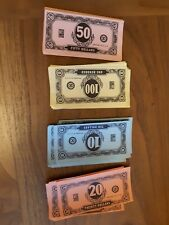 MB vintage jeopardy Game Replacement Spare cash money notes y75