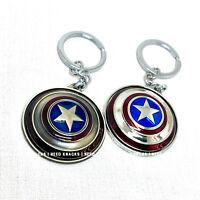 Avenger Rotatable Captain America Shield Keyring Infinity War Keychain End Game