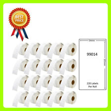 20 Rolls 99014 Labels Compatible for Dymo/Seiko 54 x 101mm 220 labels per roll