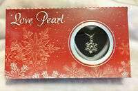 A Set Snowflake Box Love Wish Pearl Necklace Set Oyster Drop Pendant Xmas Gift