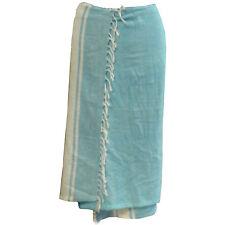 Pareo pastellblau Sarong Strandtuch Wickelkleid Baumwolle Strand Bekleidung