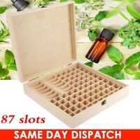 87 Slots Large Essential Oil Storage Box Wooden Case Aromatherapy Oils Organizer