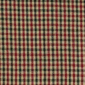 Christmas HOMESPUN Fabric 100% Cotton CHECK 48 Red Green Natural BY THE YARD
