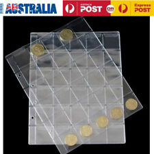 10pcs/lot Clear 30 Pocket Coins Stamp Currency Page Sheets Holder Home Favorates