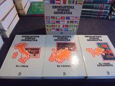 ENCICLOPEDIA STORICO GEOGRAFICA 3 VOLUMI (ITALIA EUROPA PAESI EXTRAEUROPEI) 1976