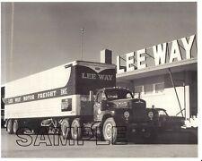 MACK B-61 LEE WAY MOTOR FREIGHT, Oklahoma City w/FRUEHAUF 8x10 B&W Glossy Photo