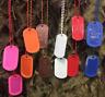 Color Dog Tags Custom Made With Personal Message GI Army USMC Military Dogtags