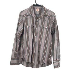 Vintage Sugar Cane Western Cowboy, Pearl Snap Button Shirt - Mens Size Large