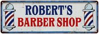 ROBERT'S Barber Shop Hair Salon Personalized Metal Sign Retro 106180031403